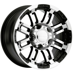4 Vision 375 Warrior 15x7 5 5x4 75 12mm Black Machined Wheels Rims 15 Inch
