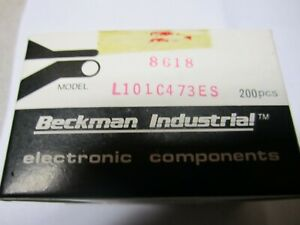 Lot Of 800 Beckman Industrial Electronic Components L101c473es Made In Japan