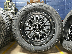 22x10 Xd Xd820 Grenade Black Wheels Rim 35 Fuel At Tires 6x135 Ford F150 Raptor