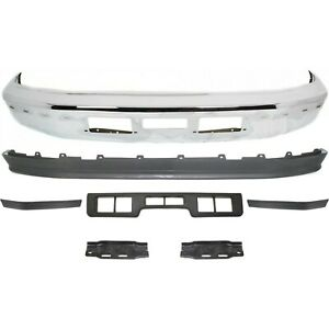 New Kit Bumper Face Bar Front Chrome F250 Truck Ford F 250 Bronco 1992 1994 1996