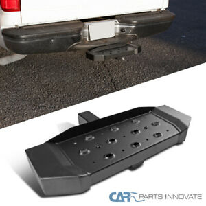 Black Rear Hitch Step Pad For Truck Suv 2 Receiver Long Guard Protection