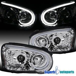 For 2004 2005 Subaru Impreza Wrx Led Drl Strip Projector Headlights Signal Lamps