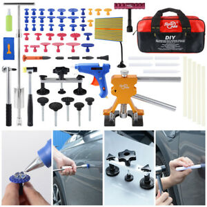 Car Paintless Dent Repair Pdr Removal Tool Kit Dent Glue Puller Kit W Bag Xc813