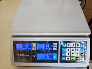 Cas Erjr Price Computing Scale 30 Lb By 0 005 Lb Ntep legal For Trade Lcd
