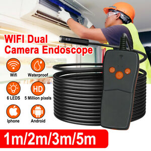 8mm Dia 5 Meter Hd Dual Camera Endoscope Lens Inspection Camera Tube Ip67 Usb