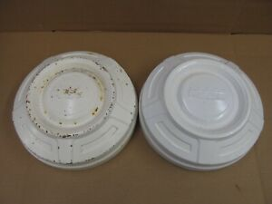 Two Ford Truck Dog Dish Hubcaps Need Restoration Set Xx