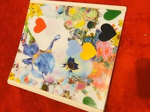 New Girly Flowers Hearts Binder White Stationary School Supplies College