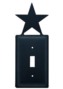 Star Single Switch Plate Cover Wrought Iron Western Texas Decor Decoration $14.95