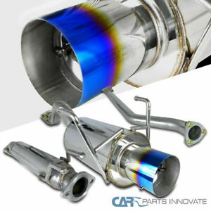 For 02 05 Honda Civic Si 3dr Hatchback Burnt Tip Catback Exhaust Muffler System