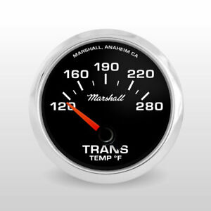 Marshall C2 Transmission Temperature Gauge Black Dial Stainless Steel Bezel