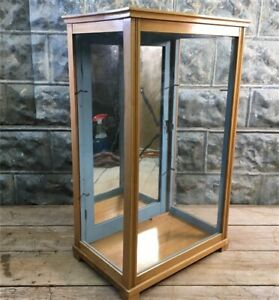 Wooden Framed Glass Vintage Showcase Country General Store Countertop Display U