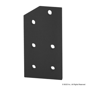 8020 Inc 15 Series 6 Hole 30 Degree Angled Flat Plate 4330 black Pack Of 4