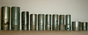 11 Vintage Snap On 3 8 Drive 12 Point Sf Sockets 3 8 To 11 16