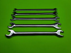 Craftsman Metric Tappet Wrench Set Polished Long Thin Pattern Open End