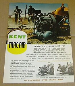 Vintage Kent Air Tool Co Trac air Pto Truck Compressors 1 Page Brochure Free Sh