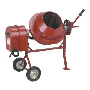 Cement 1 1 4 Cubic Ft Portable Solid Steel Stucco Mortar Cement Mixer