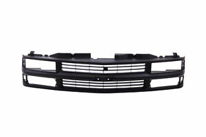 Full Black Grille Fits 94 98 Chevy C K 1500 2500 3500 Composite Pickup Truck