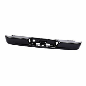 Black Rear Step Bumper Steel Face Bar Fit 2002 2008 Dodge Ram 1500 Pickup Truck