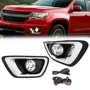 For 15 19 Chevy Colorado Clear Lens Front Fog Light W Wiring Switch Lh Rh