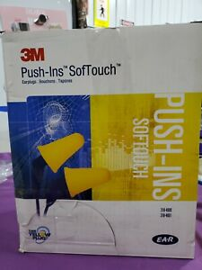 3m 318 4001 Soft Touch Corded Ear Plugs Box 200pr 31db Rated Push ins 2nfc4