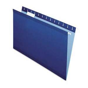 Pendaflex Reinforced Hanging Folders 1 5 Tab Legal Navy 25 b 078787435438