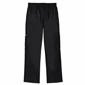 Dickies Chef Pants Black Drawstring Waist Baggie Cargo Pocket Medium Dcp201 New