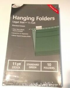 Ampad Hanging Folders legal Size 1 5 Cut green 11 Pt 16350