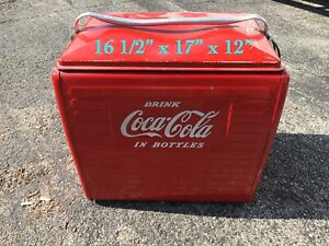 Vintage Red Coca Cola Ice Chest Cooler Pre Owned