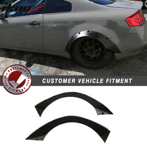 Fits 03 07 Infiniti G35 Coupe Rb Style Rear Wide Body Fender Flares Pu
