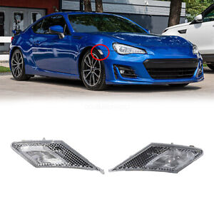 Front Bumper Side Marker Lights Lamps Chrome For 13 17 Scion Fr S Brz Toyota 86