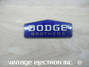 Dodge Brothers Cloisonne Radiator Badge Emblem 1928 1929 1930 1931 1932