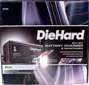 Diehard 6 12v Battery Charger Maintainer 2amp Fully Auto Car Truck Trickle New