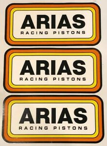 3 Arias Pistons Stickers Decals 4 25x9 Racing Drags Hotrods Nostalgia Offroad