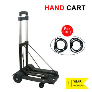 Portable Cart Folding Dolly Push Hand Truck Collapsible Trolley Aluminium 170lbs