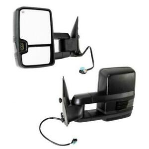 For 2002 2006 Chevy Suburban 1500 Power Heated Towing Mirrors Led Smoke Signal