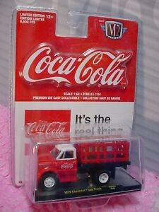 Coca-Cola 1970 CHEVROLET C60 TRUCK∞red/white✨M2 Machines✨RC01 18-01