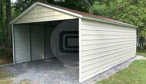 18 30 Three sided Metal Carport free Delivery Installation