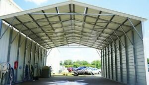 30 41 Vertical Roof Steel Carport free Shipping Installation