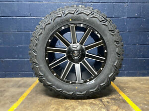 20x10 Fuel Contra D616 Black Wheels Rim 35 Mt Tires 8x170 Ford Excursion