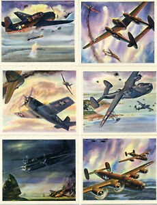 Coca-Cola 1940's  America's Fighting Planes complete set of 20 with envelope Exc