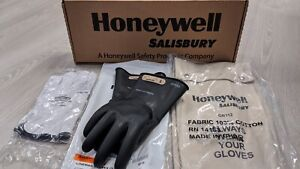 Salisbury Lineman Glove Kit w Leather Protectors Bag Black Class 00 11 Gloves