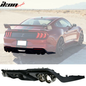 Fits 18 20 Ford Mustang Gt500 Style Rear Diffuser Bumper Lip Spoiler Pp