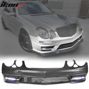 Fits 07 09 Mercedes Benz E Class W211 Amg Style Front Bumper With Grille Led Drl
