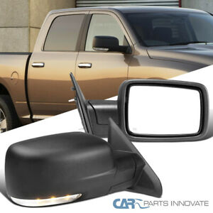 For 09 12 Dodge Ram 1500 Power Heated Foldable Side Mirrors Led Signal Puddle