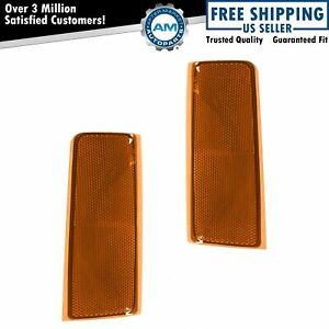 Side Marker Corner Reflector Left Right Pair For Chevy Gmc Pickup Truck Suv