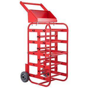 Wire Reel Caddy Wire Spool Rack 1 And 4 5 Multiple Axles Cable Caddy In Red