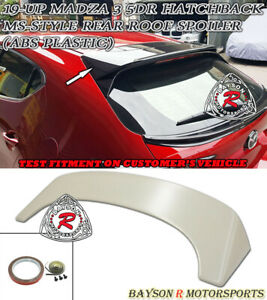 Ms Style Rear Roof Spoiler Wing Abs Fits 19 21 Mazda 3 Hatchback 5dr
