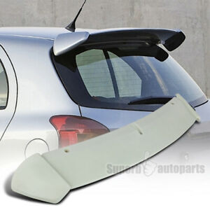 For 2006 2011 Toyota Yaris Hatchback Abs Rear Roof Spoiler Wing Unpainted