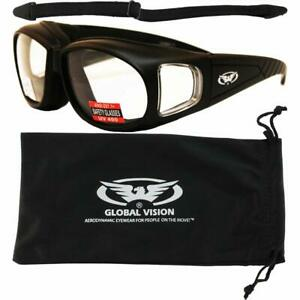 Safety Glasses Fits Over Prescription Glasses Padded Clear Lens W Pouch Strap