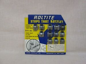 Nos Roltite Store Display Stops Car Window Rattles 1949 55 Ford Mercury Linc